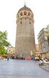 kalkon för galataistanbul torn Arkivfoton