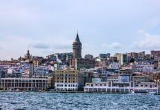 kalkon för galataistanbul torn Royaltyfri Fotografi