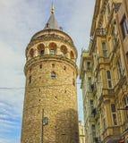 kalkon för galataistanbul torn Arkivfoto