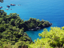 kalkon för hav för kustlinjeliggande medelhavs- Arkivfoton