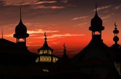 kalkon för solnedgång för antalya kemermoské Arkivbilder