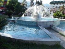 kalkon Kemer Havsvattenspringbrunnen mycket trevligt ställe på hotellet Royaltyfria Bilder