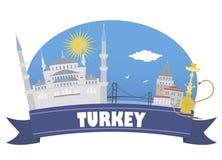 kalkon Turism och lopp stock illustrationer