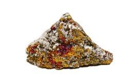 Kalkspaat, Dolomiet met Bornite Stock Afbeelding