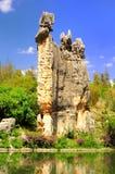 Kalksteen genoemde a-Shi-Doctorandus in de letteren bij Steenbos in Kunming Yunnan China Royalty-vrije Stock Foto's
