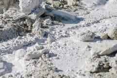 Kalksteen in natuurlijk licht verspreid water Stock Afbeeldingen