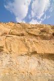 Kalksteenklip Stock Afbeeldingen
