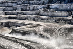 Kalksteenmijn Stock Foto