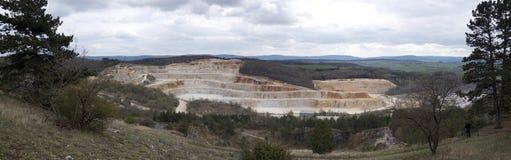 Kalksteenmijn, Koneprusy Stock Foto's