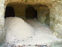 Kalksteenmijnbouw Royalty-vrije Stock Foto's