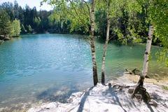 Kalkstein Adrspach-Felsenstadt und Steinbruchsee - Nationalpark von Stockfotos