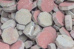 Kalkstein blockiert Achteck Lizenzfreies Stockfoto