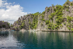 Kalkstein-Felsformation in Palawan Philippinen Lizenzfreies Stockbild