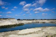 Kalkstein quarry Lizenzfreie Stockbilder