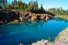 Kalkstein quarry Lizenzfreie Stockfotos