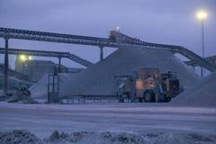 Kalkstein quarry.JH Lizenzfreie Stockbilder