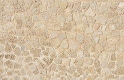 Kalkstein- und Korallenblöcke in der Wand des Bahrain-Forts Stockfotografie