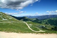 Kalksteinfelsen auf Monte Baldo stockfoto