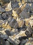Kalksteinflusssteine Stockfotografie
