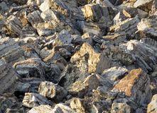 Kalksteinflusssteine Lizenzfreies Stockbild