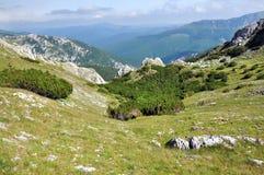 Kalksteinklippen in Retezat-Berg, Rumänien Lizenzfreie Stockfotos