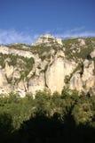 Kalksteinklippen und -wald Lizenzfreies Stockfoto