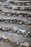 Kalksteinschritte Lizenzfreie Stockbilder