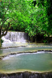 Kalksten sjöar av Laos royaltyfria foton