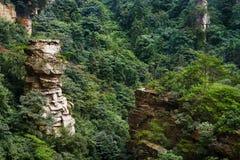 Kalkstenklippa i Zhangjiajie Royaltyfria Foton