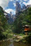 Kalkstenklippa i Zhangjiajie Arkivbilder