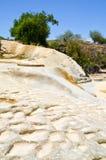 KalkstenvattenfallHierve el Agua, Oaxaca, Mexico 19th Maj 2015 Royaltyfri Fotografi