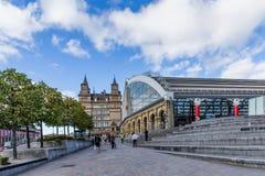 Kalkstraßenbahnstation in Liverpool, Großbritannien stockbilder