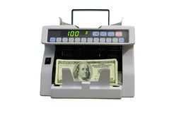 kalkulacyjny pieniądze Zdjęcie Stock