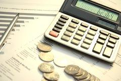 kalkulatorów dokumentów zdjęcia royalty free