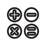 Kalkulatorów guzików interfejsu symbolu ikony wektoru znak i symbol odizolowywający na białym tle, kalkulator zapinamy interfejsu royalty ilustracja