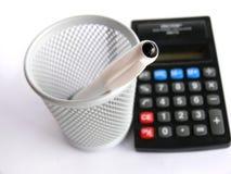 kalkulator długopis. zdjęcie royalty free