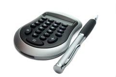 kalkulator długopis. Obraz Royalty Free