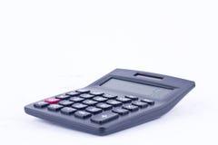 Kalkulator dla kalkulować liczby rozlicza księgowość biznesowy obliczenie na białym tle odizolowywał bocznego widok fotografia royalty free