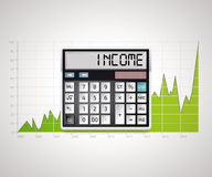 Kalkulator - dochód Fotografia Stock