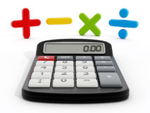 Kalkulator i matematycznie symbole ilustracja wektor