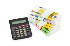 Kalkulator i pieniądze Obraz Stock