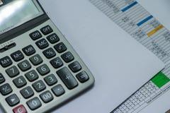 Kalkulator i pieniężnej księgowości pojęcie Obraz Stock