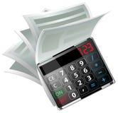 Kalkulator ikona Zdjęcia Stock