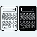Kalkulator ikona Zdjęcia Royalty Free