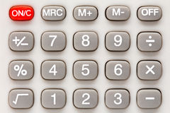 Kalkulator klawiatura Obrazy Stock