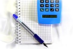 Kalkulator mówi Cześć Fotografia Royalty Free