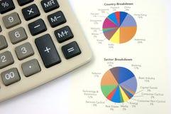 kalkulator mapy ciasta Obrazy Royalty Free