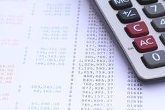 Kalkulator na banka oświadczeniu Obraz Royalty Free