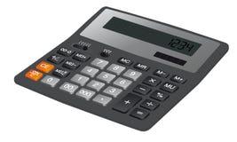Kalkulator na białym tle Fotografia Royalty Free