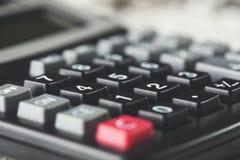 Kalkulator na biurku zdjęcia royalty free